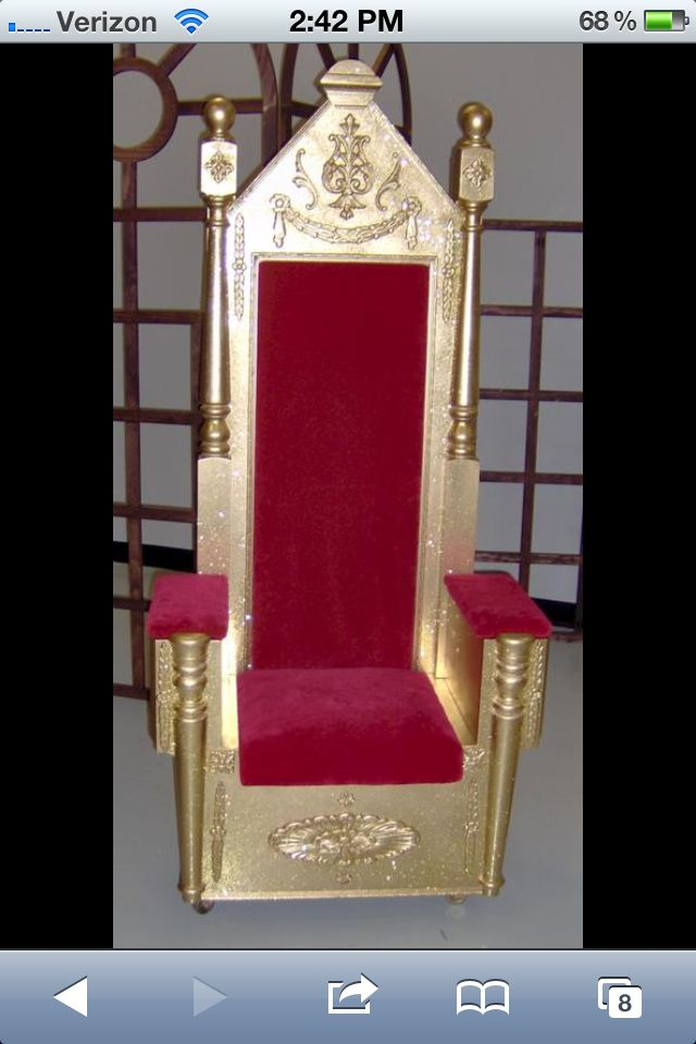 Birthday Throne Princess Knights King Herod Throne For