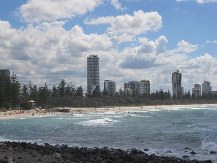 Burleigh Heads beach, part of Gold Coast beaches, Queensland