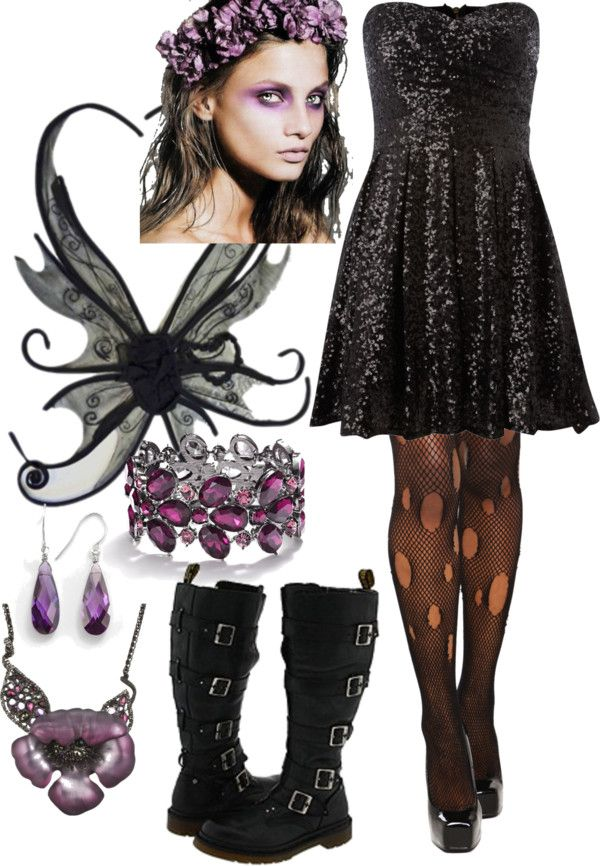 """Dark Fairy Costume"" by hiimcailin on Polyvore"