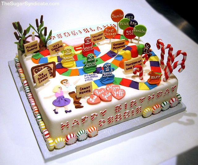 Candyland Birthday Cake