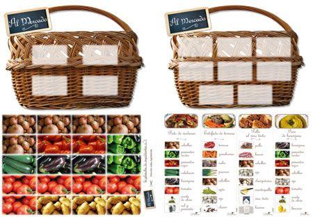 ¿Quien será el primero en rellenar su cesta con los ingredientes de su receta? Este juego motiva la concentración y el sentido de la observación.