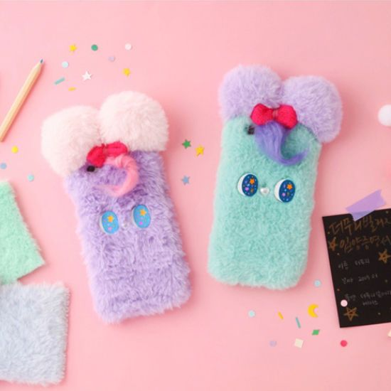 Korea The Puri Village Cell Phone Wool Fur Case Cover For iPhone/Galaxy HandMade #ThePuriVillageKorea