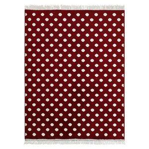 Covor Fringe - roșu, 140x200 cm