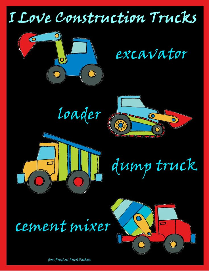 construction trucks images for kids | Construction Truck Names!!