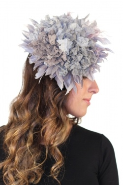 Malababa Galia Fascinator Large in Topo