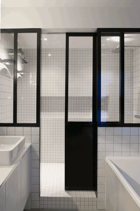 Architecture restructuration am nagement architecture int rieure 10h10 d coration - Porte douche verriere ...