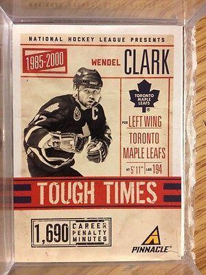 2011 12 Pinnacle Tough Times 1 Wendel Clark Toronto Maple Leafs | eBay