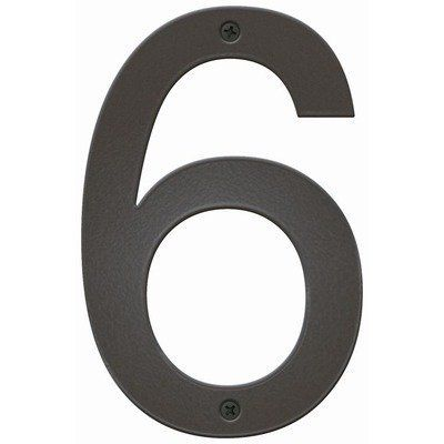 "Triumph House Number Letter: 6, Color: White by Blink Manufacturing. $27.99. BTN-6-WT Letter: 6, Color: White Features: -UV protected against fading.-Maintenance free.-Highly visible 5"" H.-Made in the USA. Includes: -Includes 0.5"" standoffs for dimensional look. Construction: -Constructed of 16 gauge galvanized steel; will not rust. Warranty: -One year manufacturers warranty."