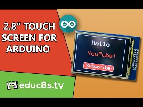 """Arduino Tutorial: 2.8"""" TFT LCD Touch Screen ILI9325 with Arduino Uno and..."""