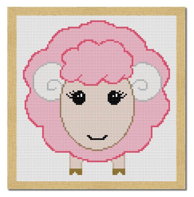 Free Sheep Cross Stitch Pattern in PDF free download