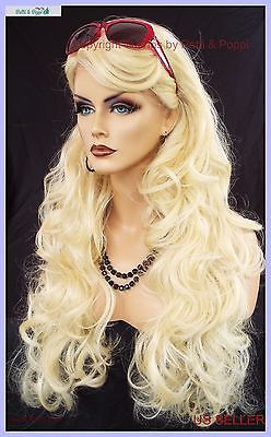 LACE FRONT LACE PIN W/PART CURLY LAYERED 613 GORGEOUS SEXY NEW  US SELLER  148