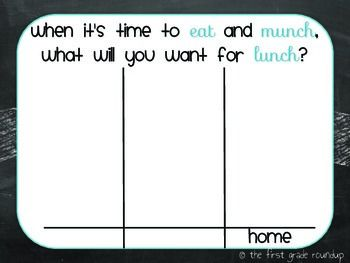 LUNCH CHOICES BOARD - TeachersPayTeachers.com