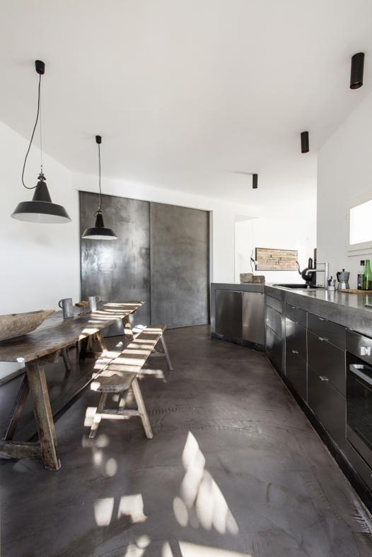 stainless-steel kitchen units
