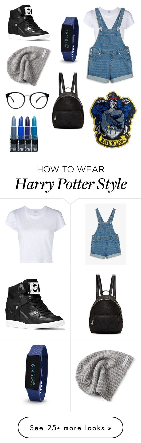 """Playful Ravenclaw - Minded Girl"" by hyperxactive on Polyvore featuring Converse, RE/DONE, Monki, STELLA McCARTNEY and MICHAEL Michael Kors"