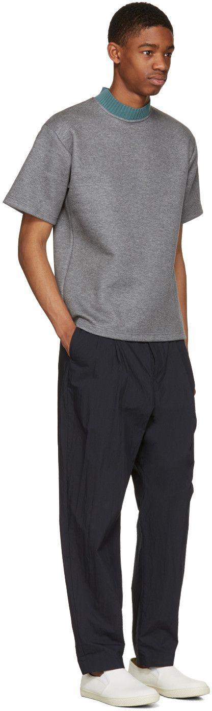 Kolor - Grey Mock Neck T-Shirt