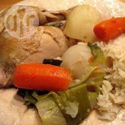 Photo recette : Poule au pot en cocotte-minute
