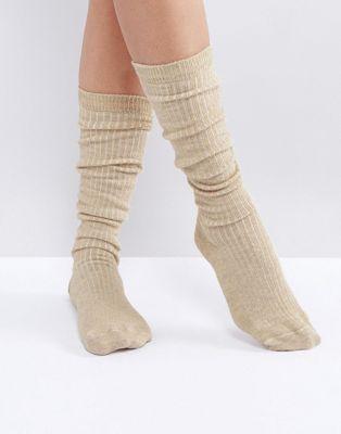 $5.50 Rib Lounge Socks