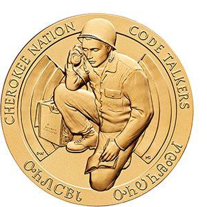 "Cherokee Nation Code Talkers Bronze Medal 3"" (CO4)"