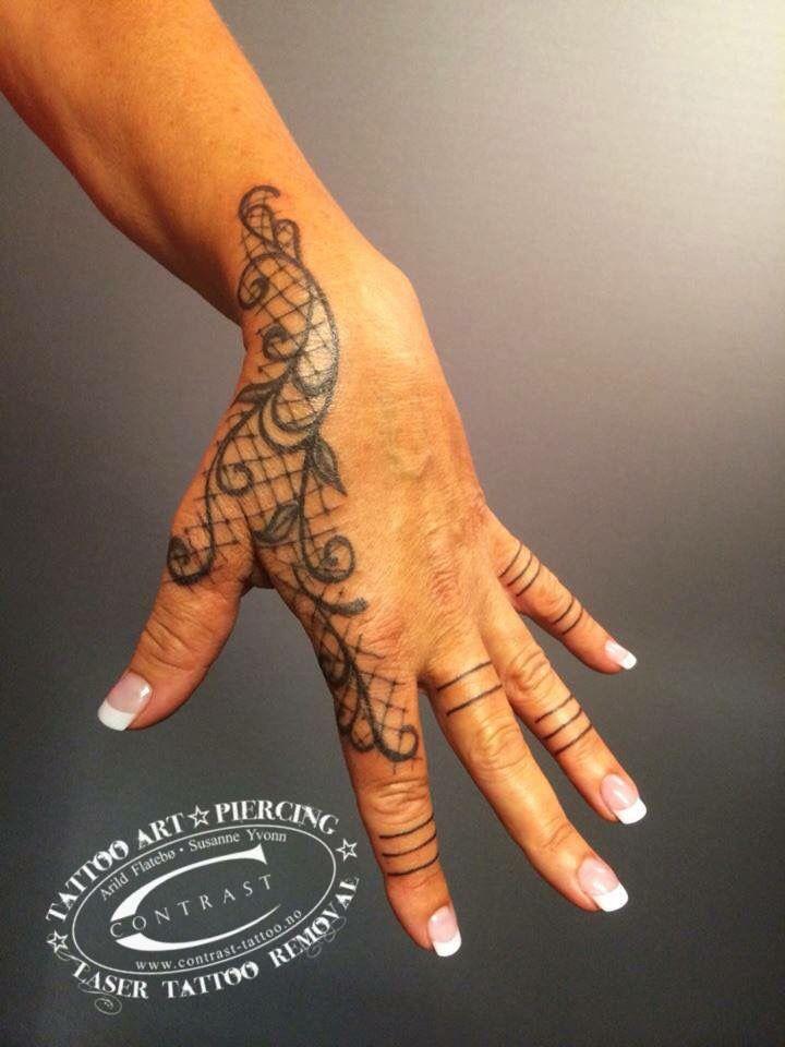 Contrast ink Tattoo  Lace Tattoo Art by  Arild Flatebø