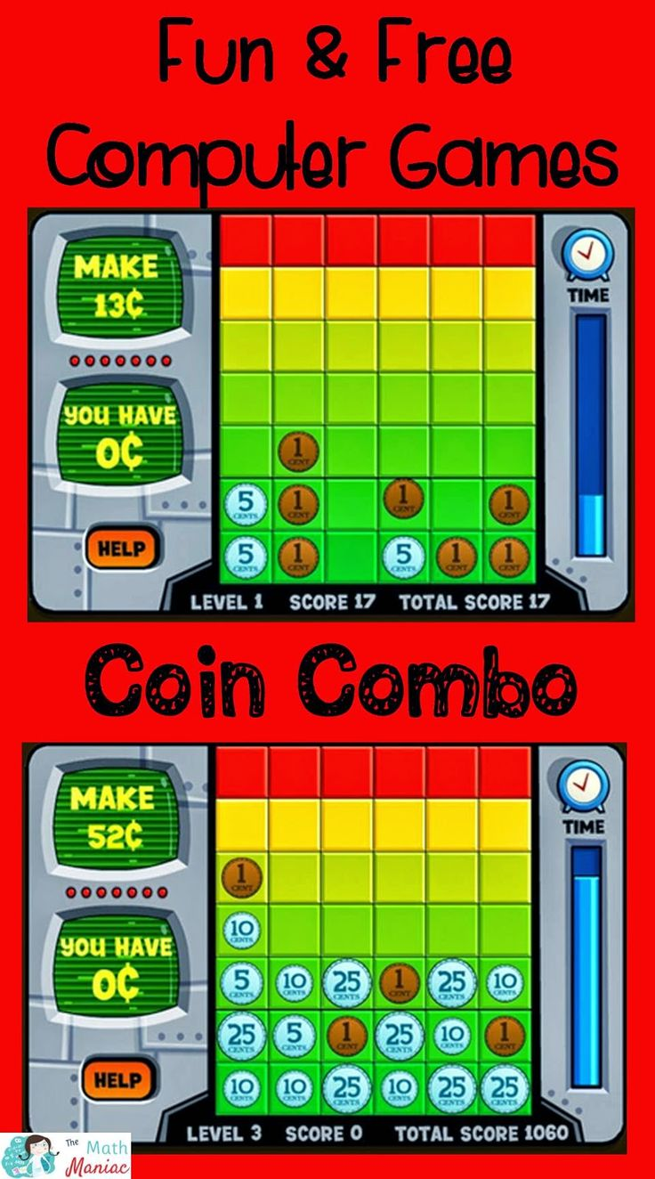 The elementary math maniac fun free computer games coin combo