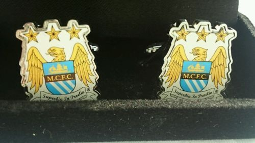 Cufflinks - manchester city #football club crest, #official #merchandise ,  View more on the LINK: http://www.zeppy.io/product/gb/2/112264880643/
