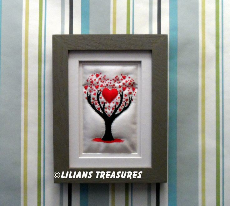 Nothing says I love you more than my heart #quilture #heart #valentine #love #tree #quilt #Iloveyou #picture