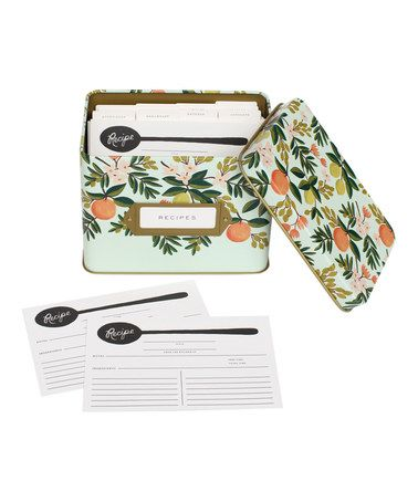 Loving this Citrus Floral Recipe Box on #zulily! #zulilyfinds