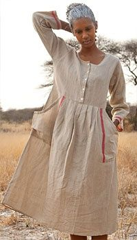 Linen and cotton dress:
