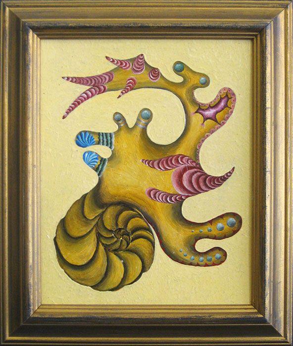 #18   Artist: Vitali Zelinski   Title: Element 29   Medium: Oil on board   Dimensions: 10 in. x 8 in.   Framed: 12 1/2 in. x 10 1/2 in.