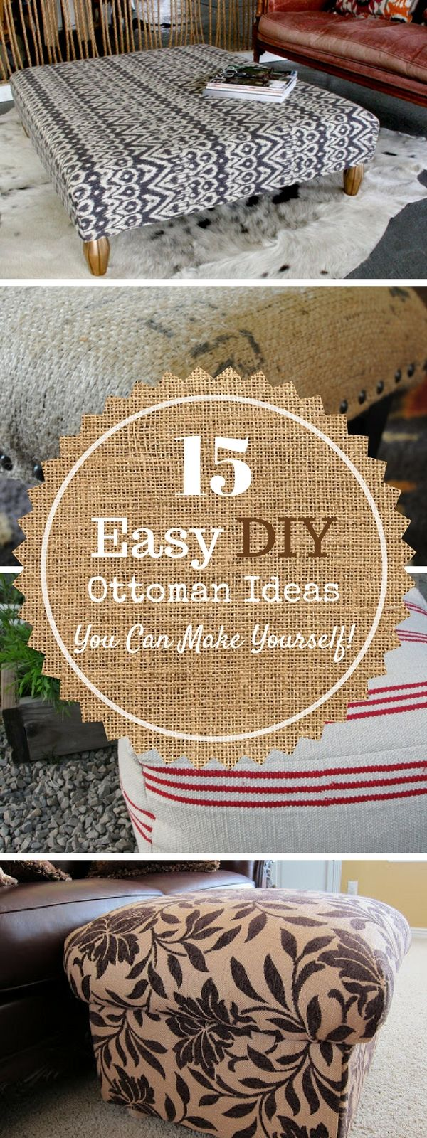 Check out 15 easy DIY ottoman ideas you can make yourself @istandarddesign