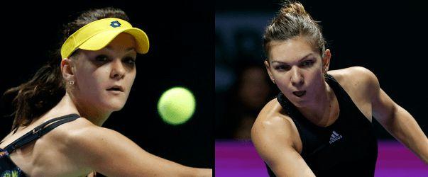 Jucătoarele de tenis Simona Halep, locul 4 WTA, şi Agnieszka Radwanska, locul 6 WTA, se vor întâlni, astăzi, de la ora 13.00, în a doua semifinală a Turneului Campioanelor