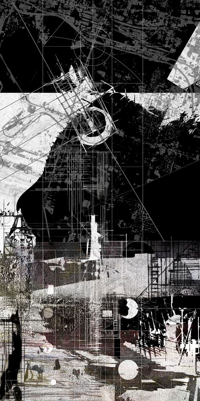 JOSHUA L JONES, USF SCHOOL OF ARCHITECTURE • Architectural drawing of Eisenstein's The Return, Spring 2011, Dr. Levant Kara