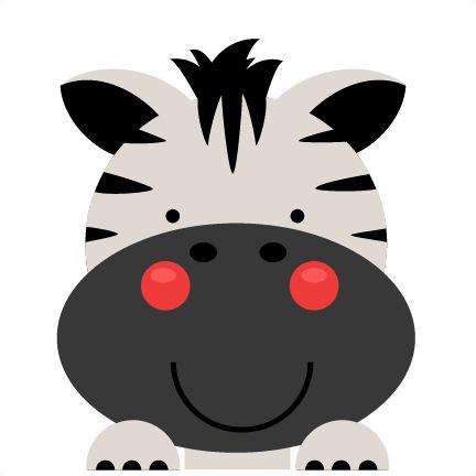 Peeking Zebra SVG scrapbook cut file cute clipart files for silhouette cricut…