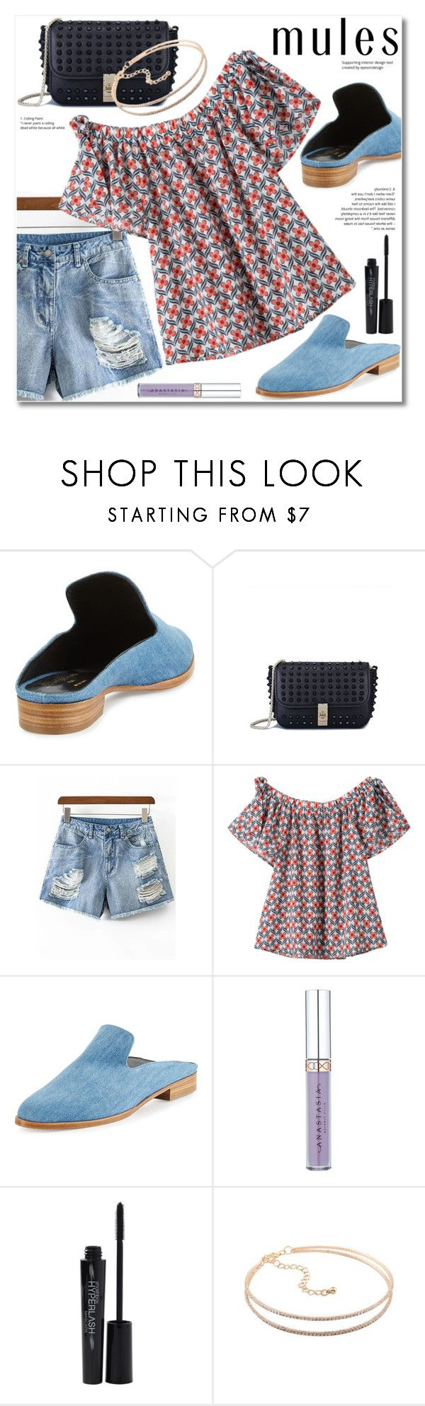 """Slip 'Em On: Mules"" by svijetlana ❤ liked on Polyvore featuring Robert Clergerie, Smashbox, mules and zaful"