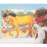 Traditional party games for children of all ages including Pin the tail on donkey.