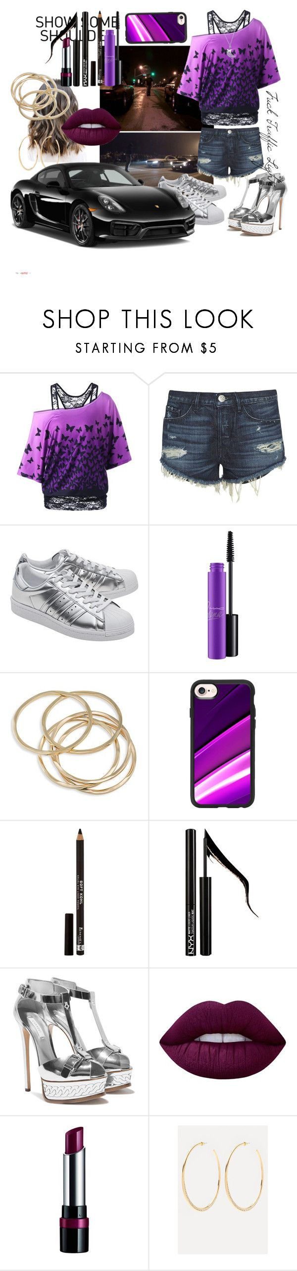 """""""083 Road Racer - Female Edition"""" by berry2206 on Polyvore featuring Mode, 3x1, adidas Originals, MAC Cosmetics, ABS by Allen Schwartz, Casetify, Rimmel, Forever 21, Lime Crime und Porsche"""