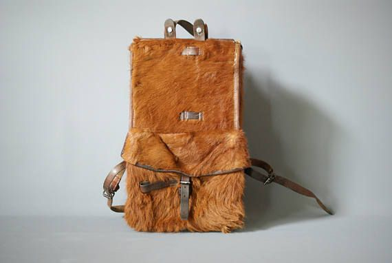SWISS ARMY Backpack 1939 Swiss Cowhide Backpack Tornister