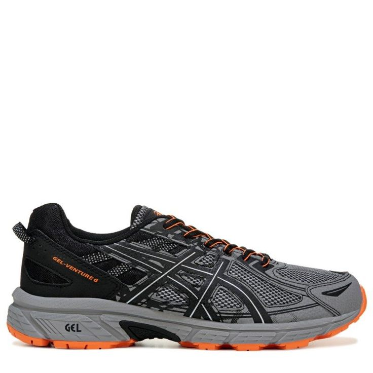 ASICS Men's Gel-Venture 6 Trail Running Shoes (Grey/Orange/Black) · Zapatos  ...