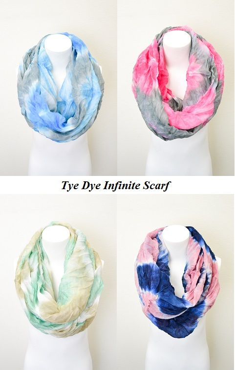 DIY Tye Dye Infinity Scarf. Thinking I want to make some minis for Katie.