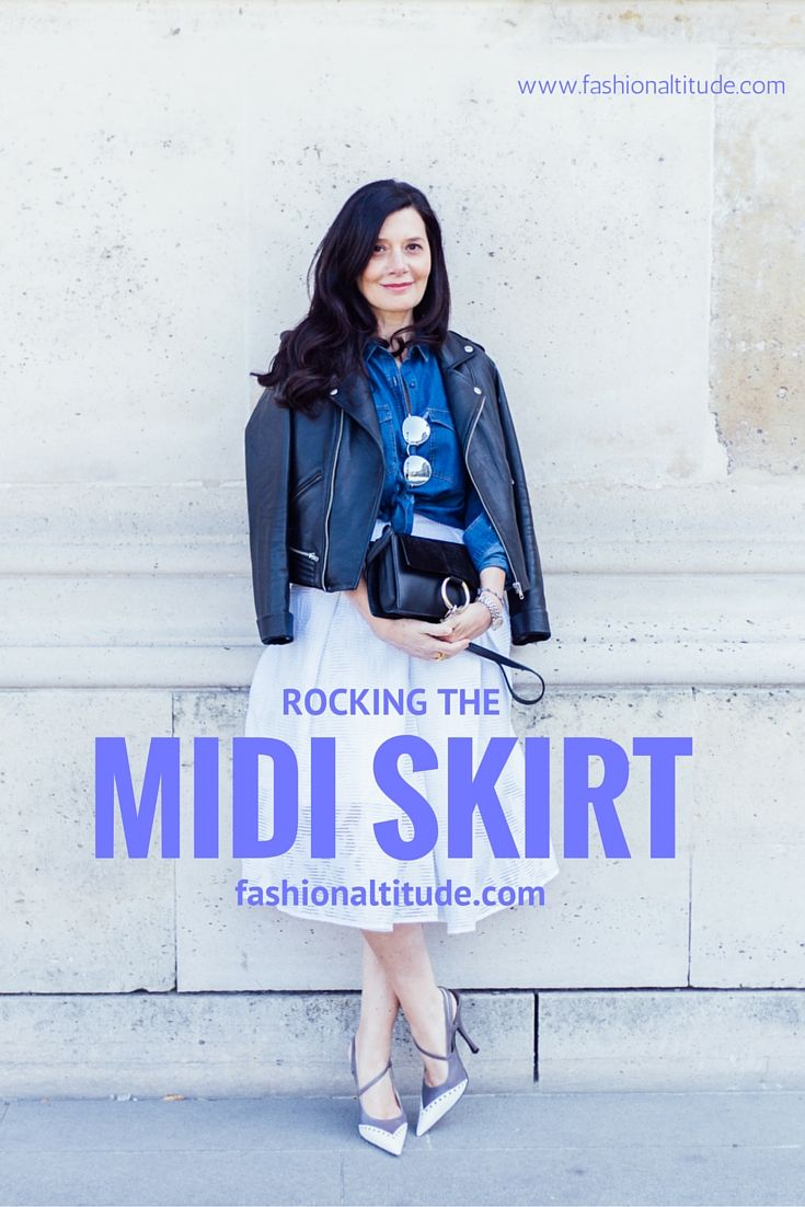 How to style a midi skirt and a biker? Find out on our blog at www.fashionaltitude.com