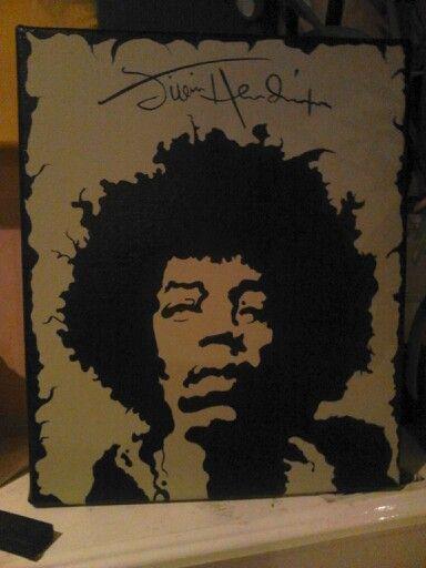 Comissioned piece Jimi Hendrix.