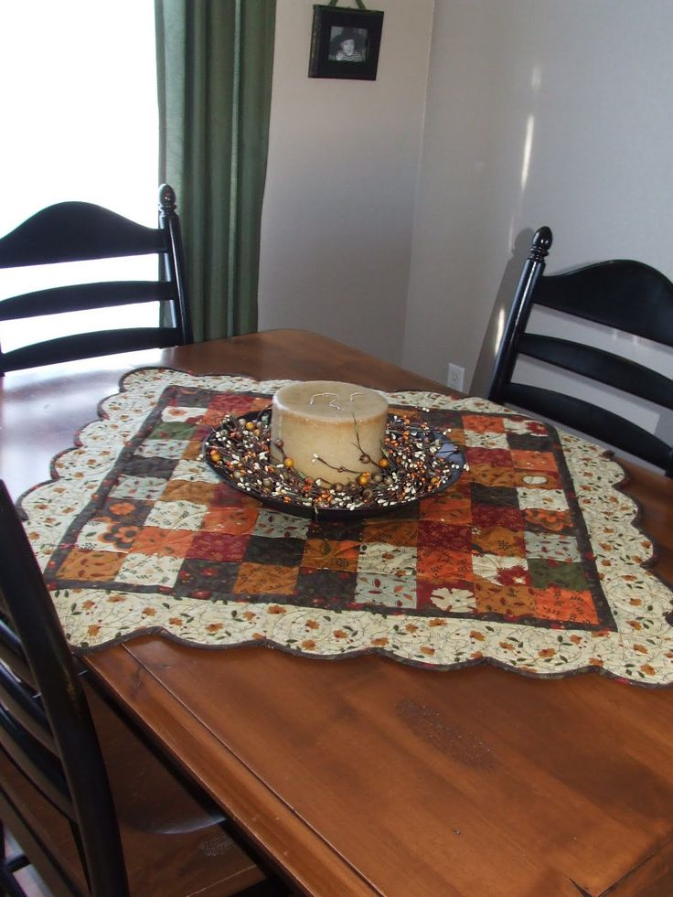 This tutorial makes one Table Runner that measures 17 x 40 inches, and one Table Topper that measures 32 x 32 inches square. I've always loved scalloped edges so I decided to give it a try, and it ...