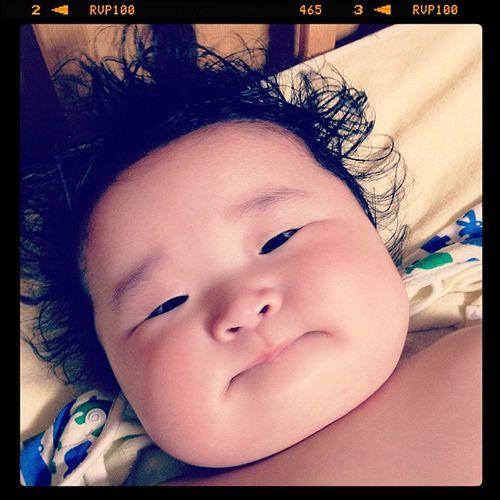 Adorable japanese baby.   #japanese_baby #baby #japan