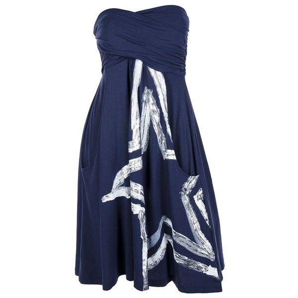 Dallas Cowboys Foil Star Tube Dress
