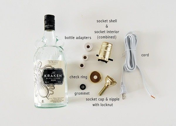 How to make a bottle lamp. Diy Liquor Bottle Lamp - Step 1
