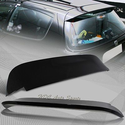 For 1992-1995 Honda Civic Hatchback ABS Black Painted Spoon Rear Spoiler Wing