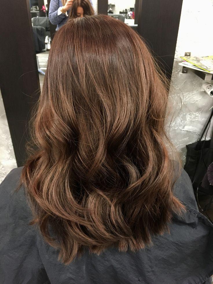 Brunette curly hair