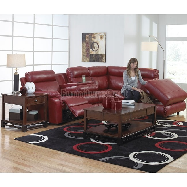 Chastain Reclining Sectional Living Room Set Red