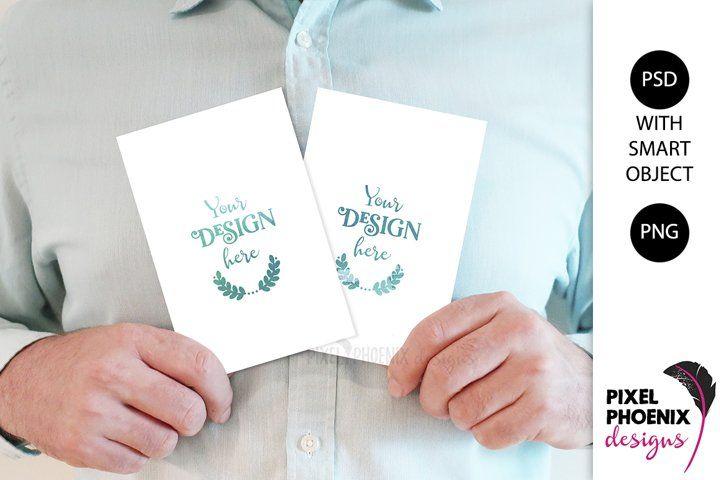 Mockup With Hands 4x6 Card Mock Up Front And Back 324389 Occasions Design Bundles Invitation Mockup Design Bundles Cards