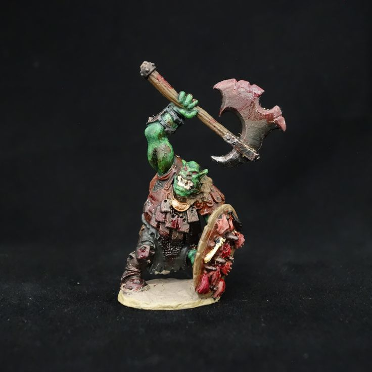 Ork Warboss Professionally Painted Miniature for Dungeons and Dragons by PraiseworthyStudios on Etsy, $35.00